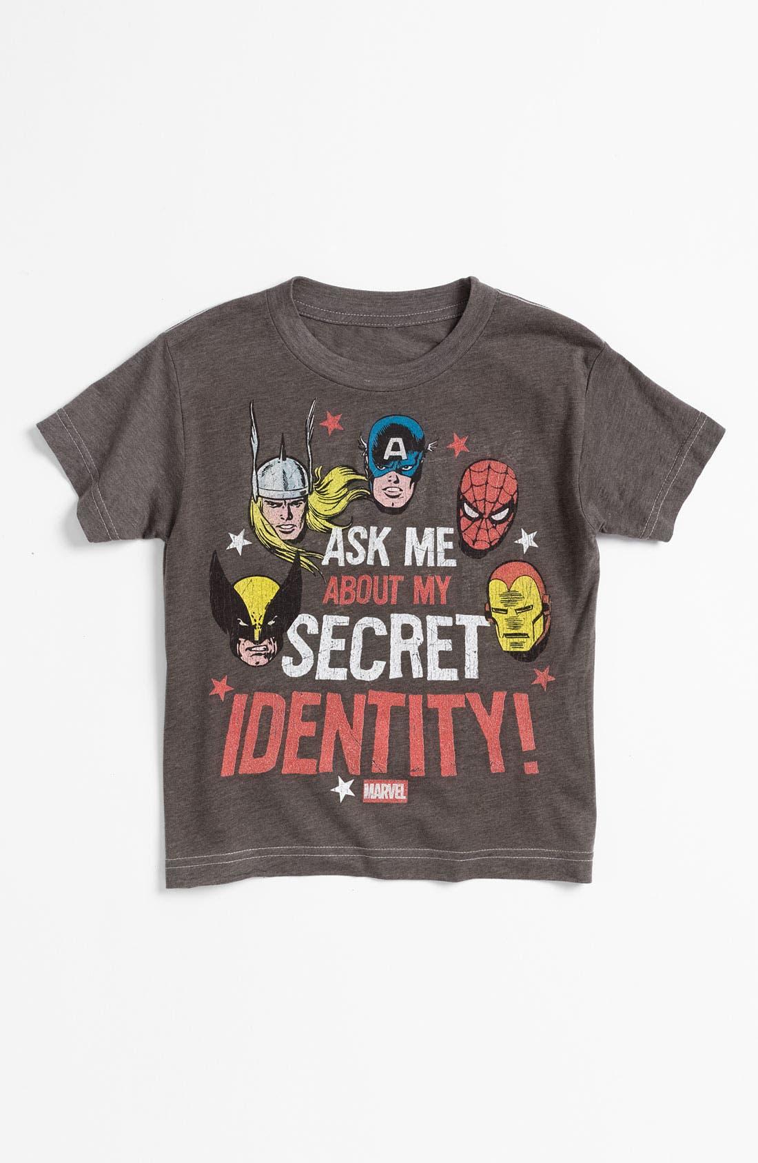 Main Image - Jem 'Marvel® Identity' Reversible T-Shirt (Little Boys)