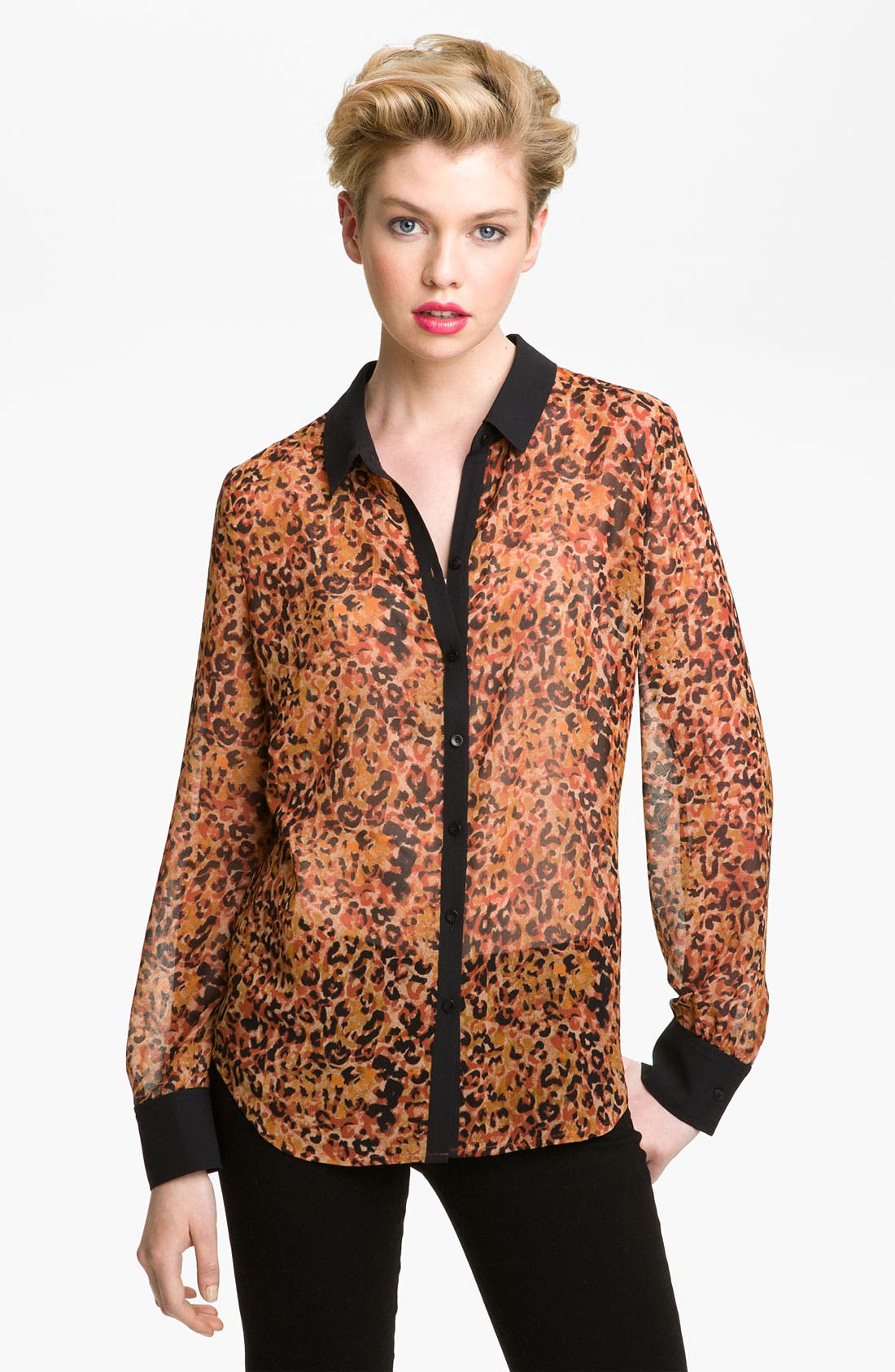 Alternate Image 1 Selected - Hinge® Print Chiffon Shirt