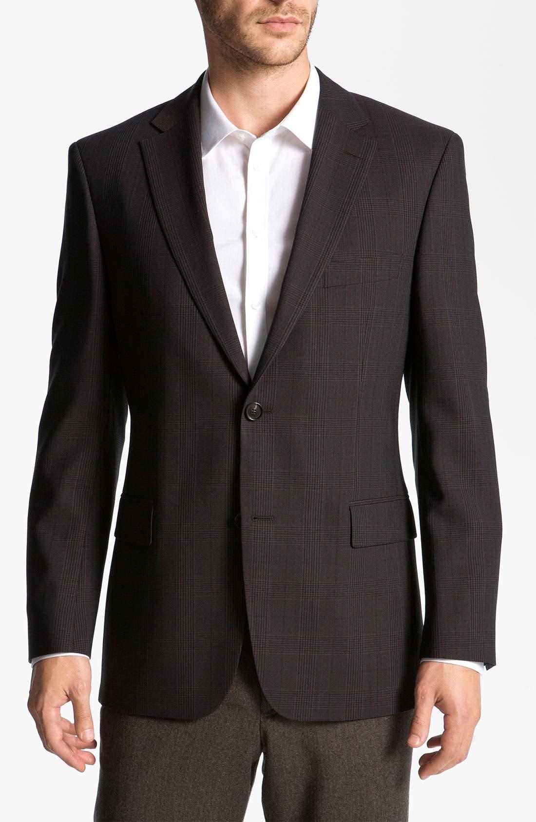 Alternate Image 1 Selected - BOSS Black 'Pasini' Glen Plaid Sportcoat