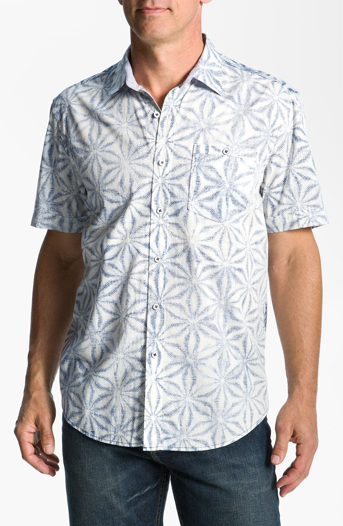 Alternate Image 1 Selected - Tommy Bahama 'Blue Basil' Sport Shirt