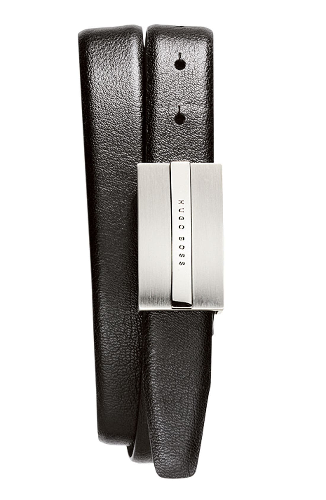 Alternate Image 2  - BOSS Black Leather Belt