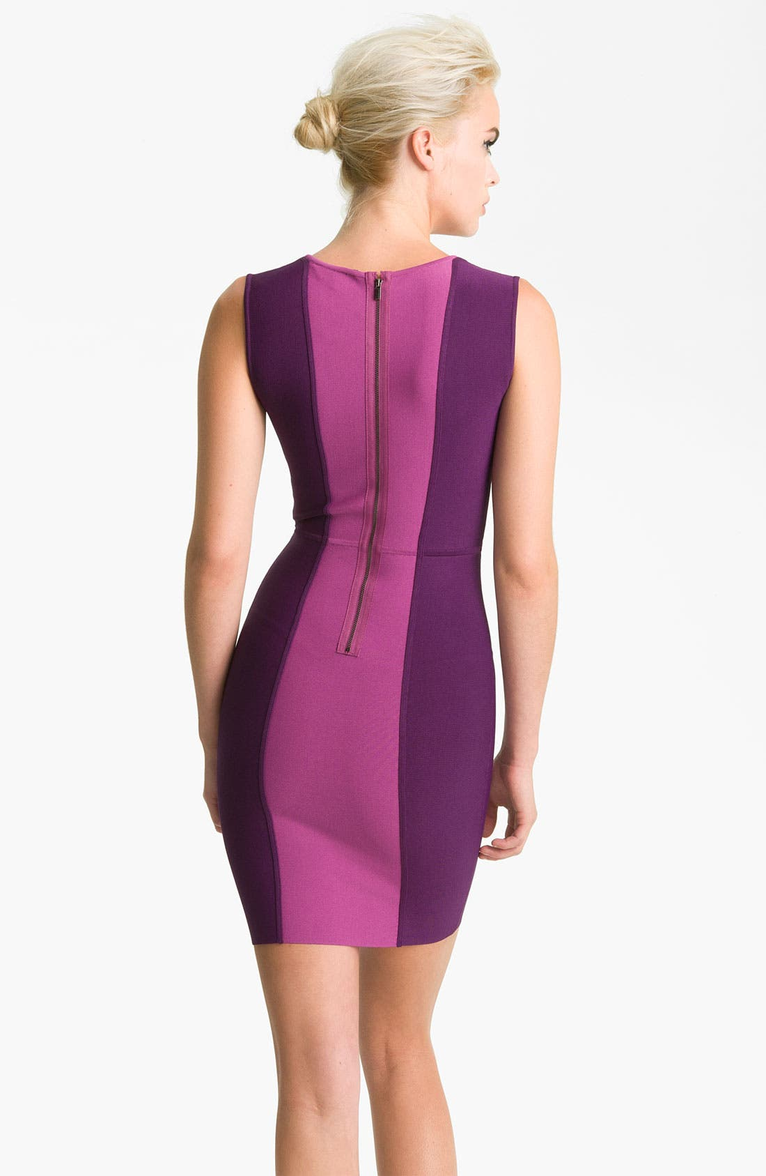 Alternate Image 2  - BCBGMAXAZRIA Colorblock Knit Sheath Dress