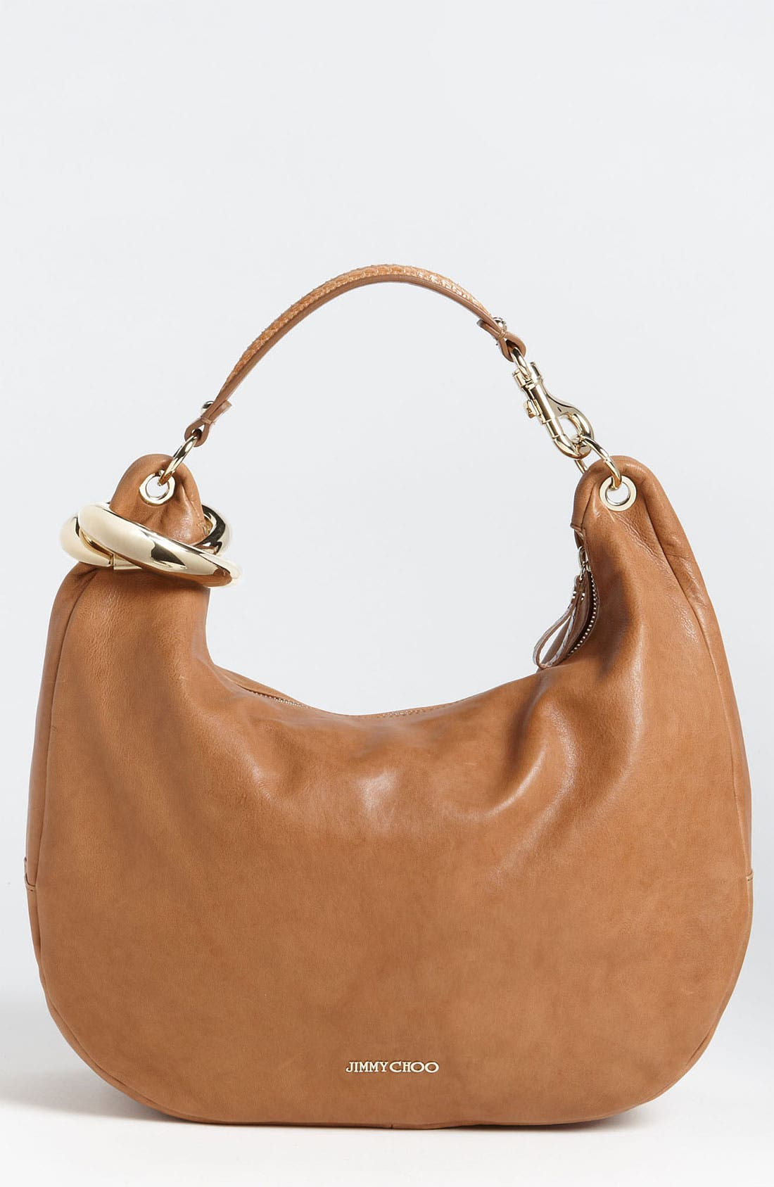 Main Image - Jimmy Choo 'Large Solar Calf' Leather Hobo