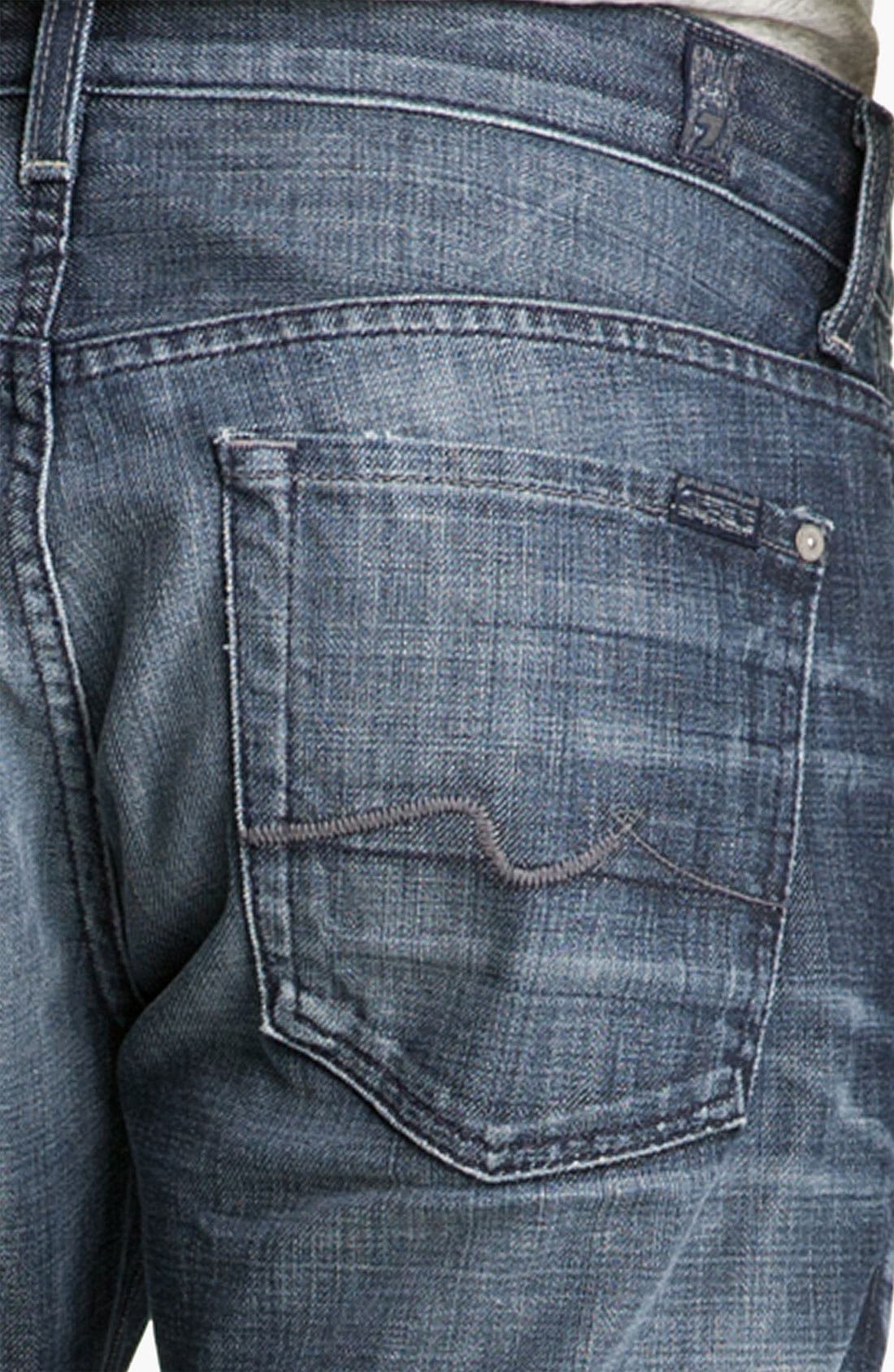 Alternate Image 4  - 7 For All Mankind® 'The Straight' Slim Straight Leg Jeans (Crater Lake)