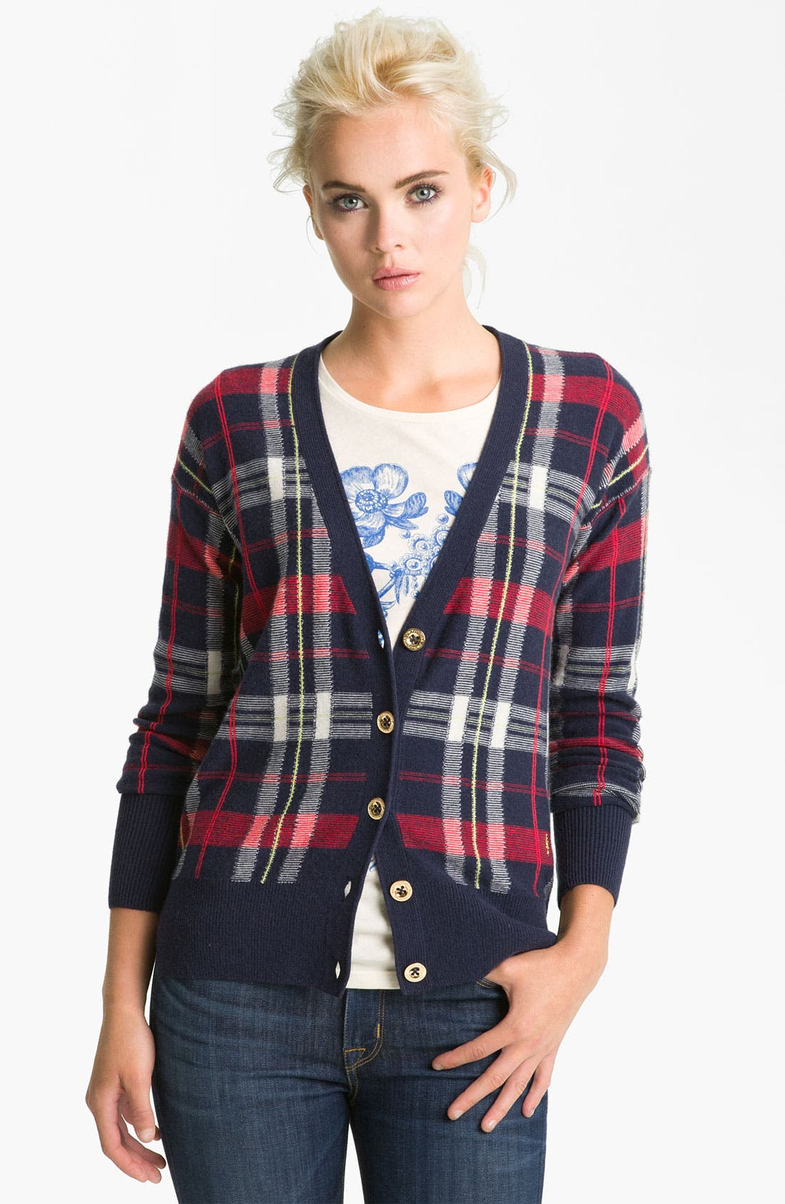 Alternate Image 1 Selected - Juicy Couture Plaid Cardigan