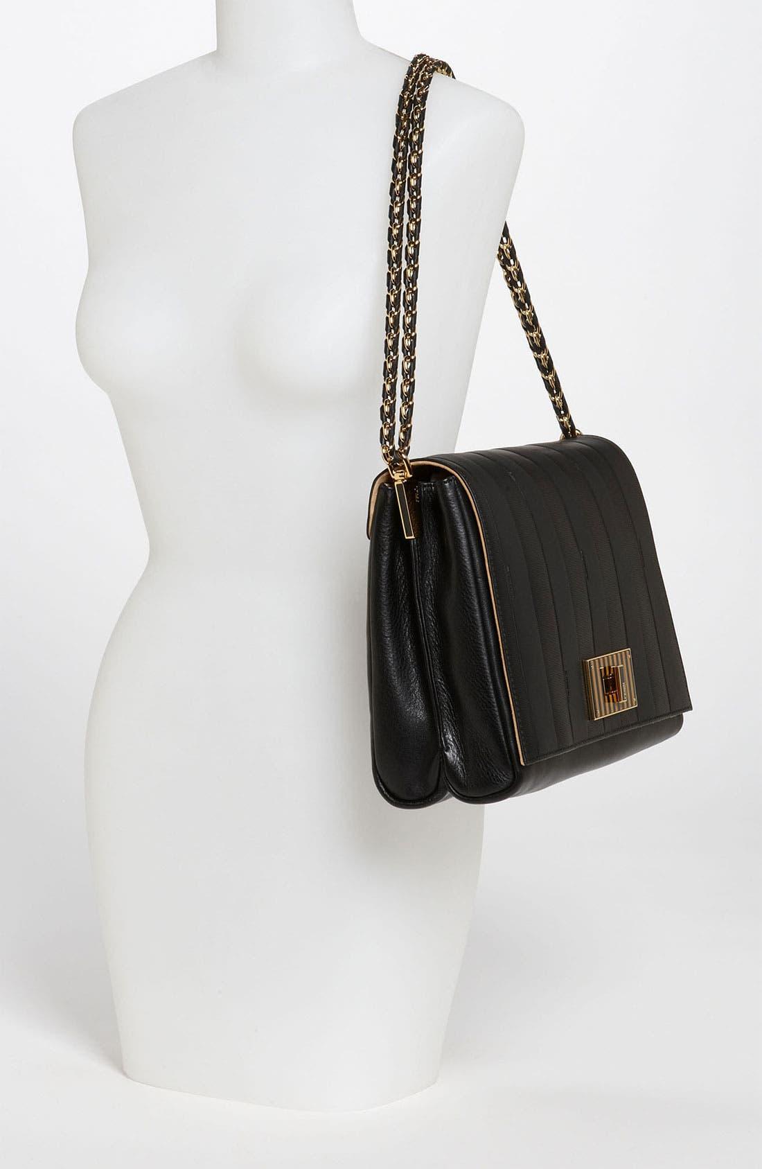 Alternate Image 2  - Fendi 'Paris Pequin - Large' Leather Shoulder Bag