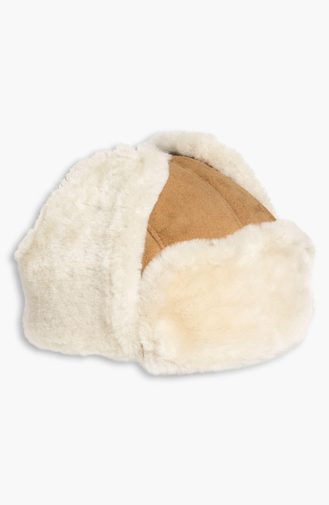 Alternate Image 3  - UGG® Australia Genuine Shearling Trapper Hat