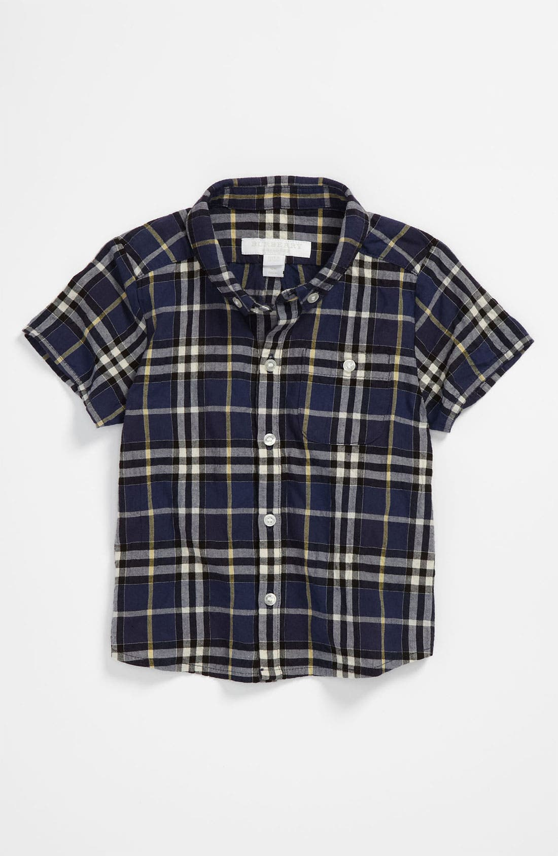 Alternate Image 1 Selected - Burberry Check Shirt (Toddler)