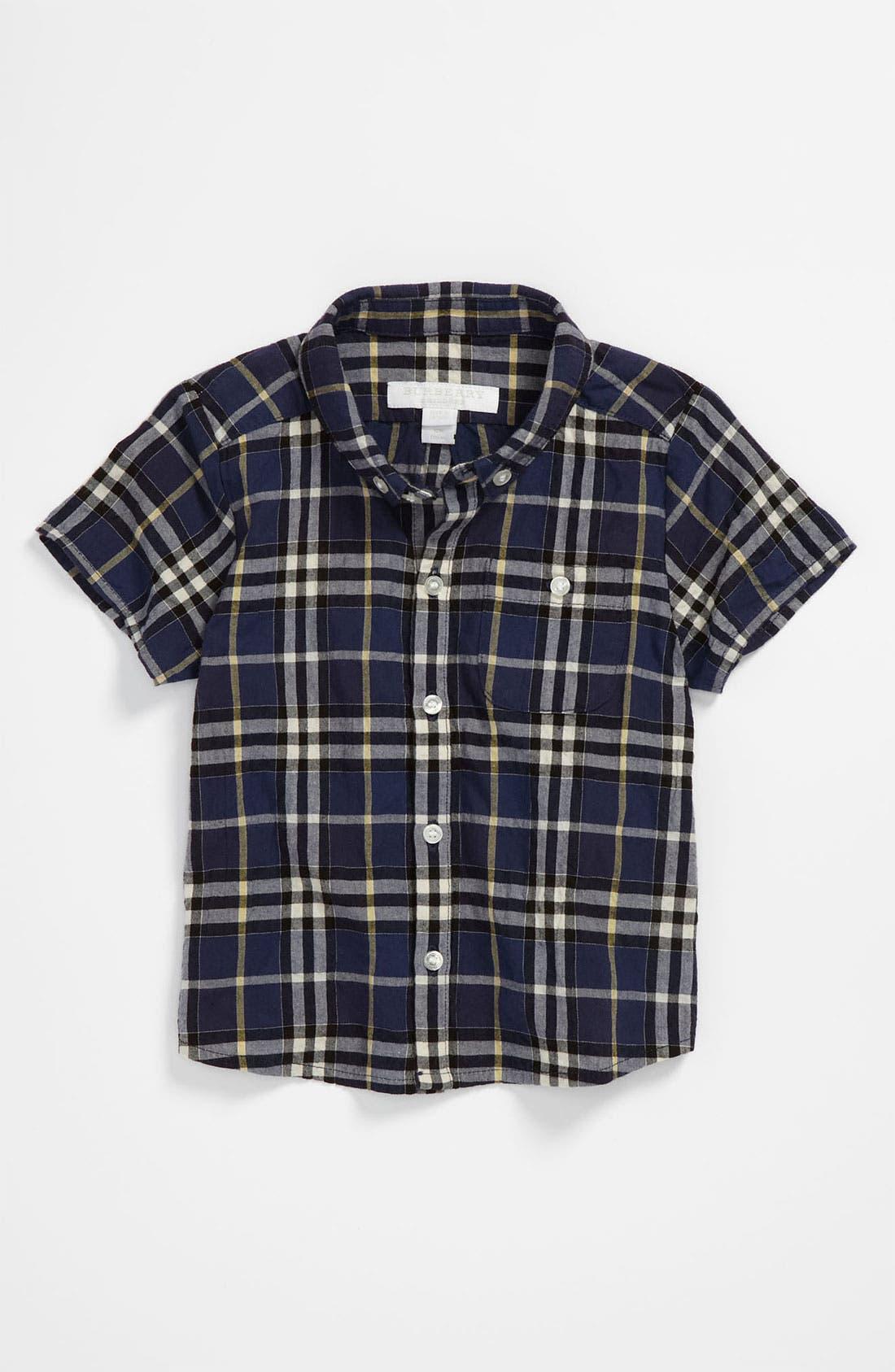 Main Image - Burberry Check Shirt (Toddler)