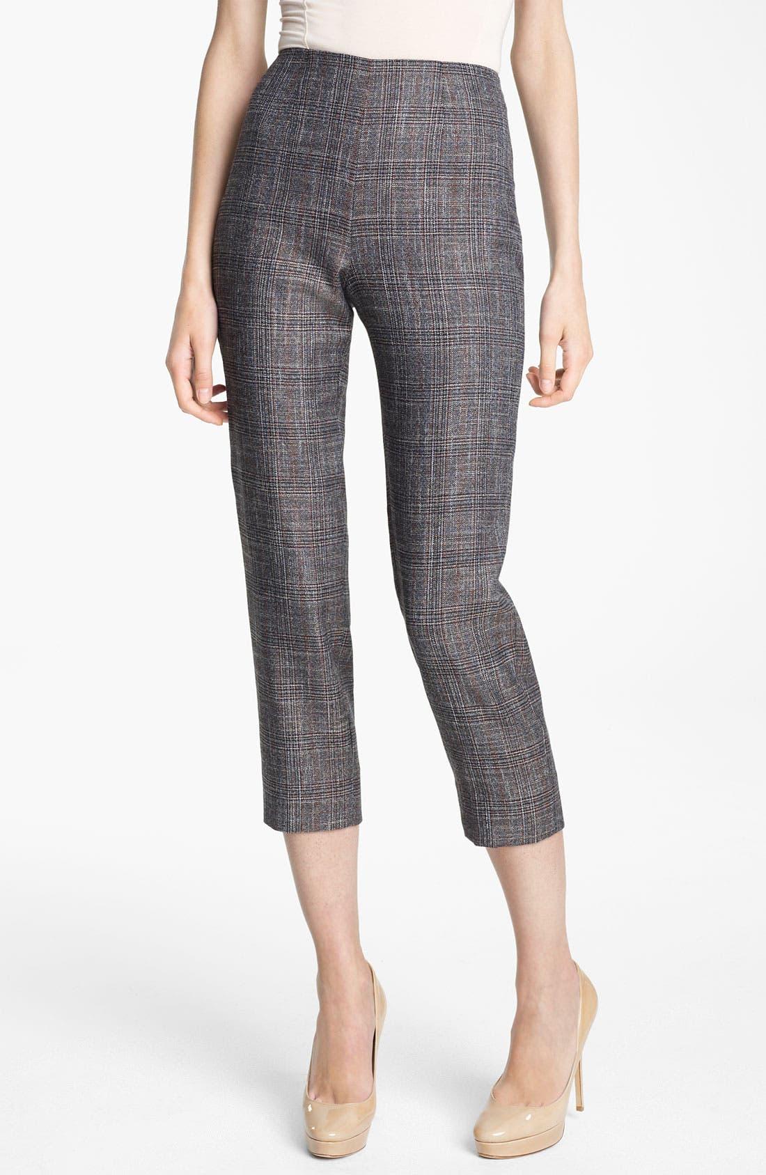 Main Image - Piazza Sempione 'Audrey' Madras Crop Pants