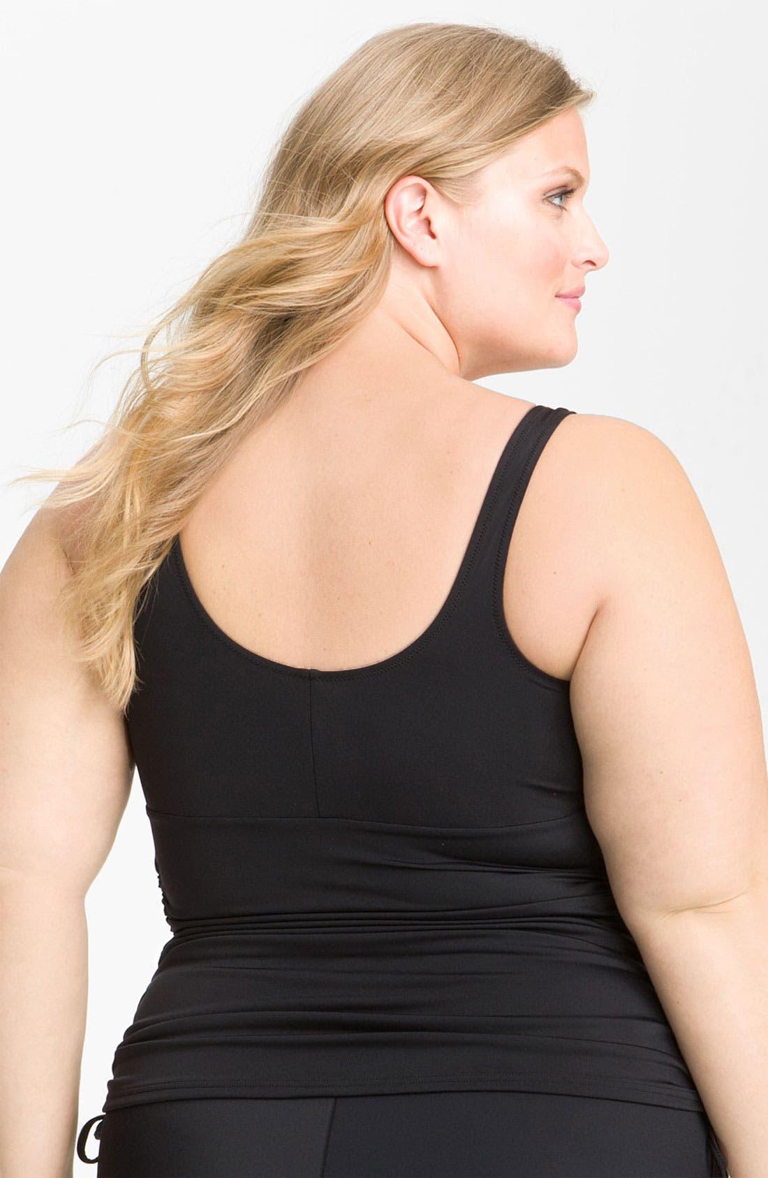Alternate Image 2  - Elomi 'Isis' Layering Tankini Top (Plus Size)