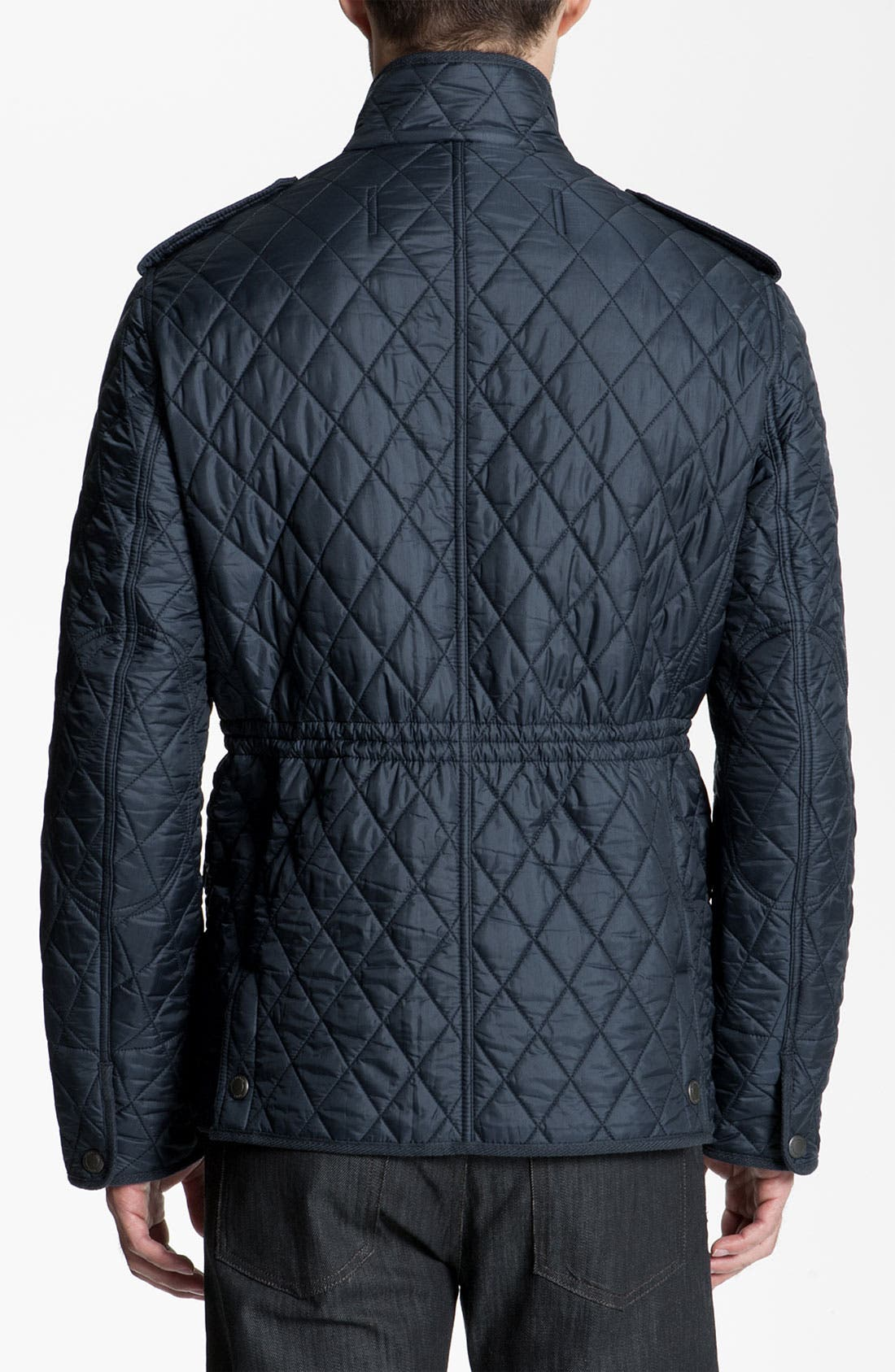 Alternate Image 2  - Burberry Brit Quilted Trim Fit Jacket