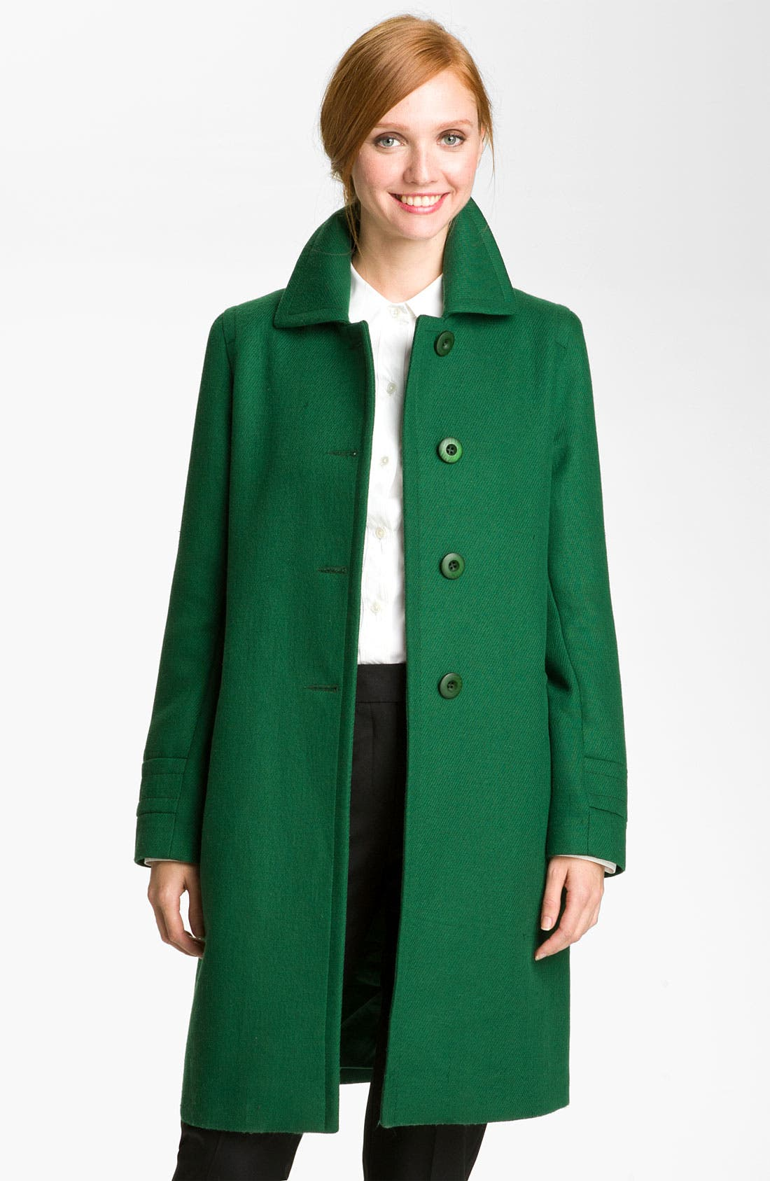 Main Image - Kristen Blake Single Breasted Walking Coat