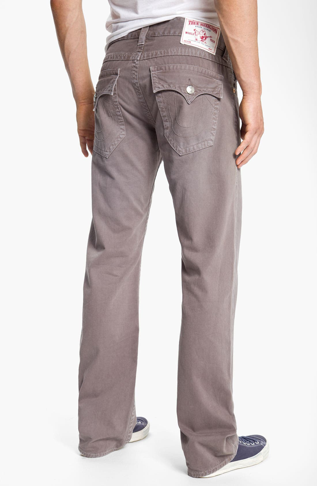 'Ricky' Straight Leg Cotton Twill Pants,                         Main,                         color, Dark Storm