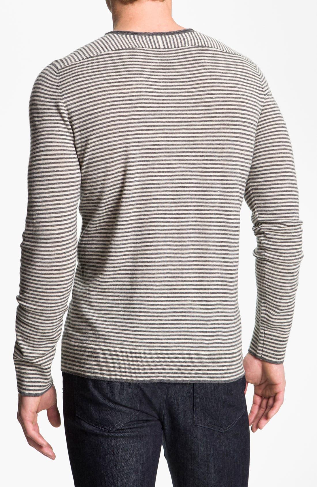 Alternate Image 2  - Vince Stripe Crewneck Sweater