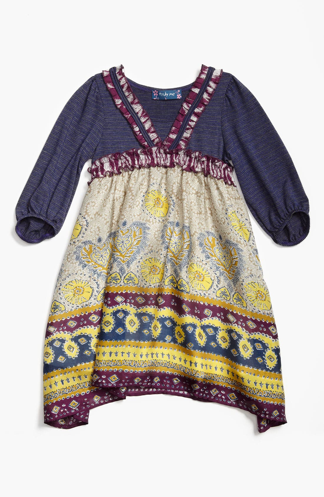 Alternate Image 1 Selected - Truly Me Knit Dress (Little Girls & Big Girls)