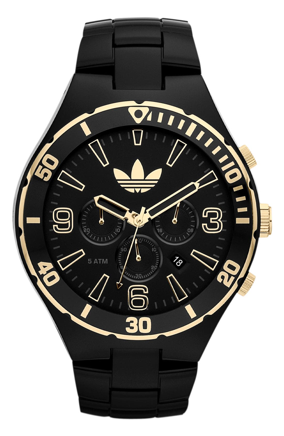 Alternate Image 1 Selected - adidas Originals 'Melbourne' Large Chronograph Bracelet Watch, 50mm