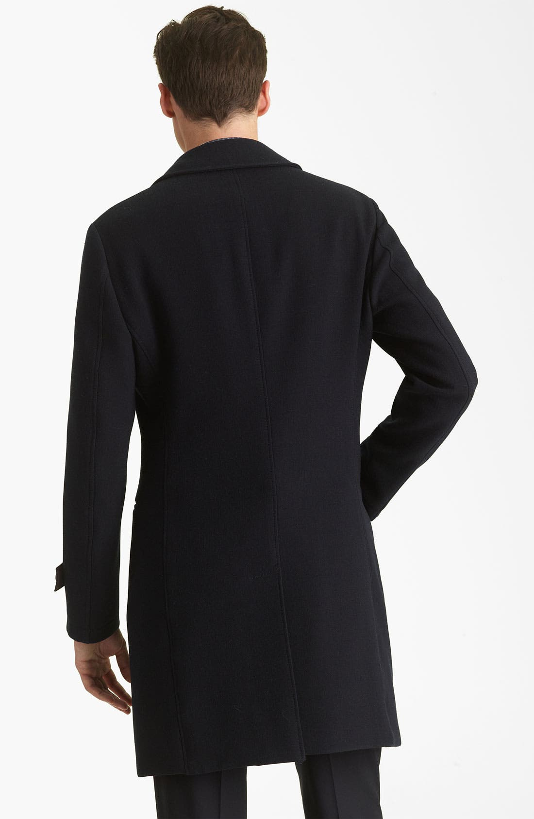 Alternate Image 2  - Armani Collezioni Twill Top Coat
