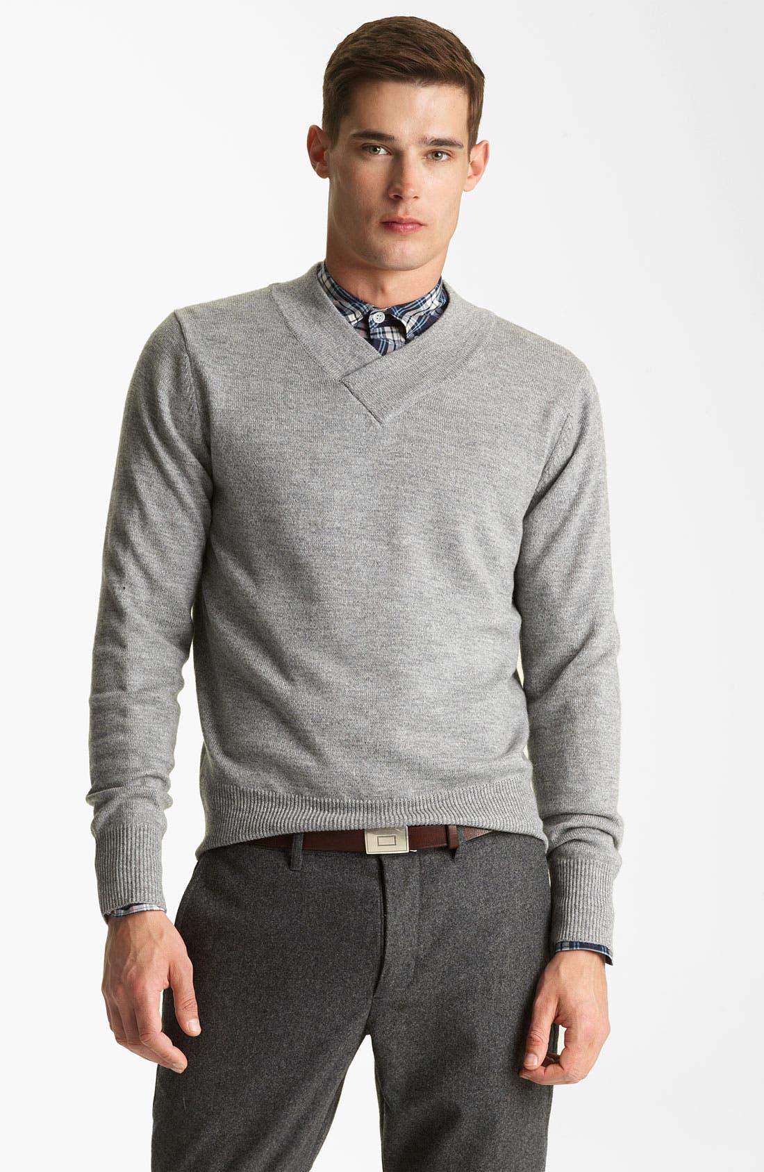 Alternate Image 1 Selected - Todd Snyder V-Neck Merino Wool Sweater