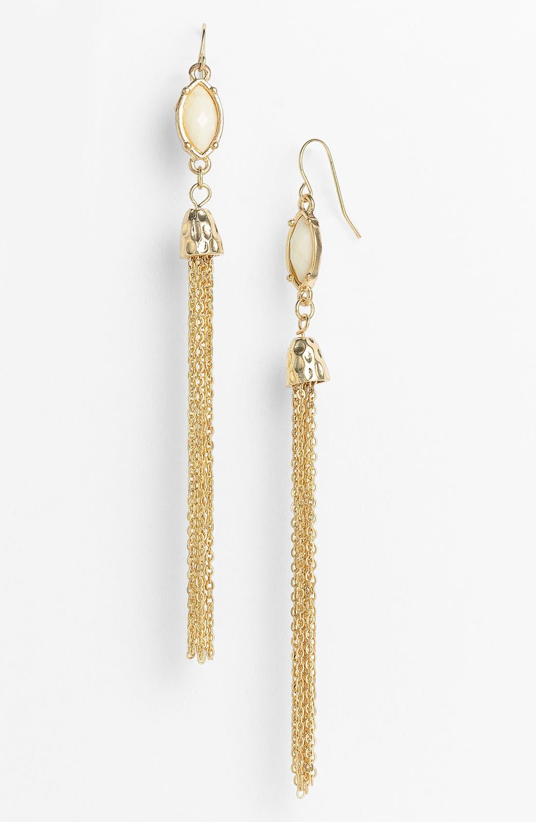 Alternate Image 1 Selected - Carole Chain Tassel Earrings
