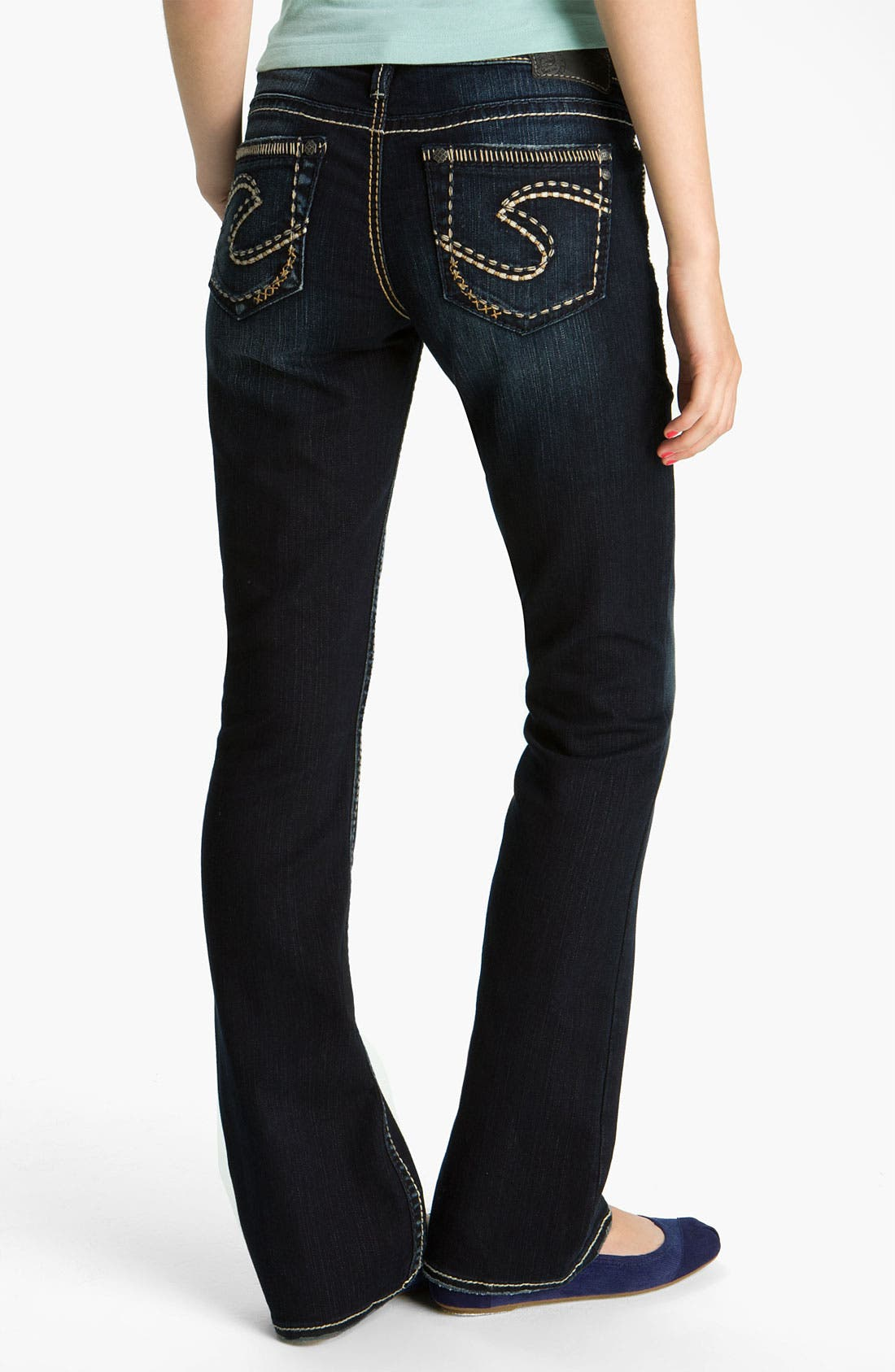 Alternate Image 1 Selected - Silver Jeans Co. 'Aiko' Bootcut Jeans (Juniors)