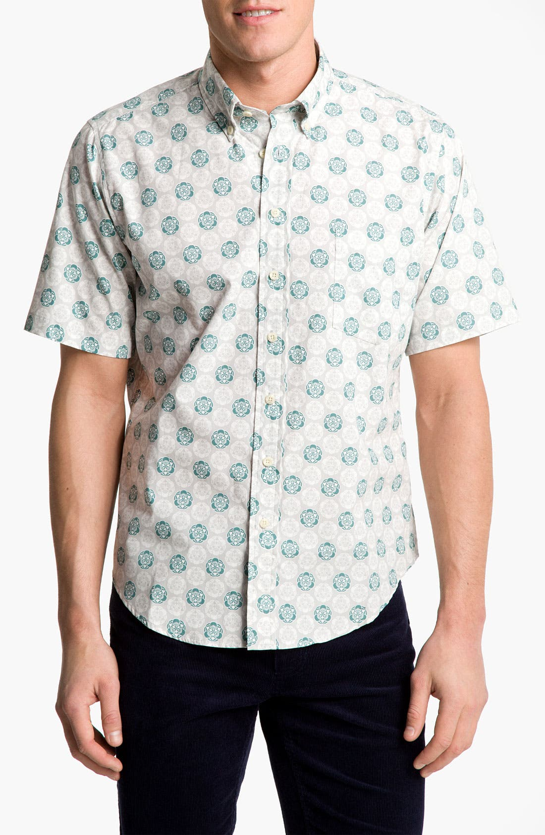 Main Image - Reyn Spooner 'Noble Mon' Print Woven Shirt