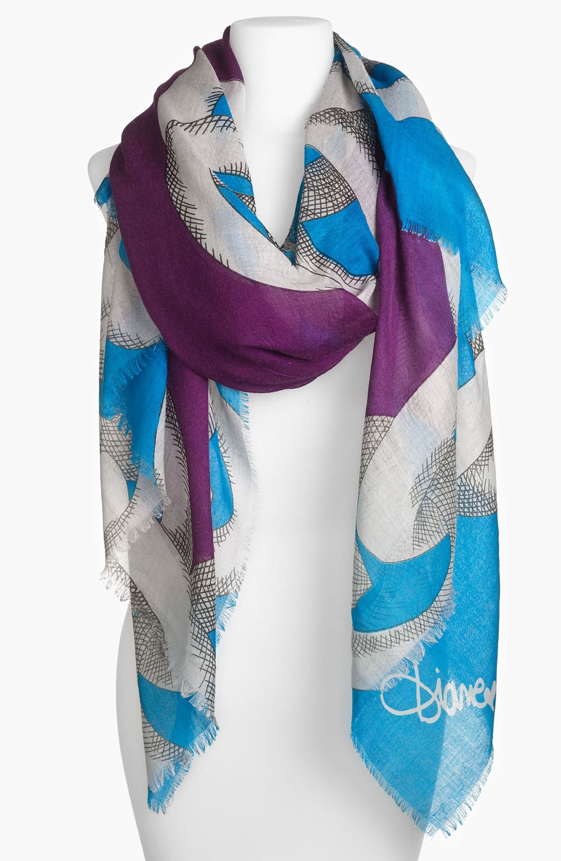 Alternate Image 1 Selected - Diane von Furstenberg 'Hanover' Wool & Silk Scarf