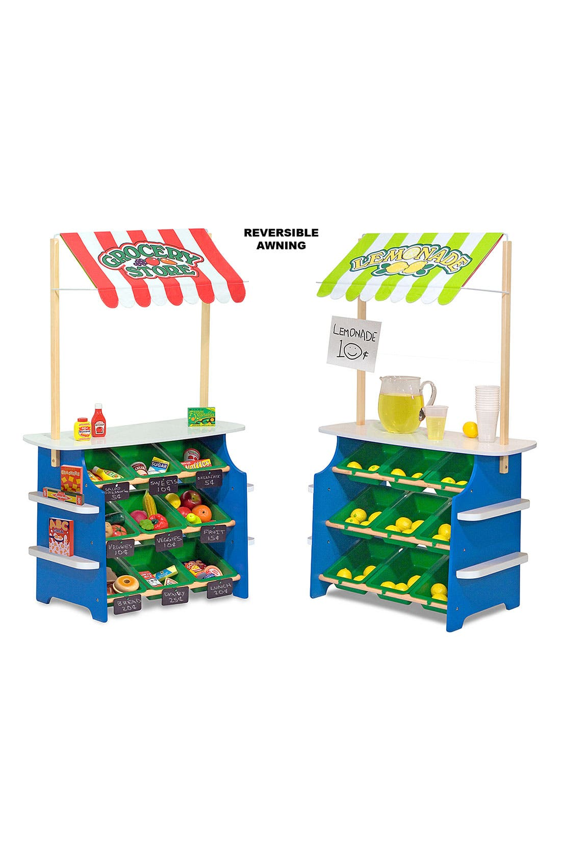 Play Time Convertible Grocery Store & Lemonade Stand,                             Alternate thumbnail 3, color,                             Multi