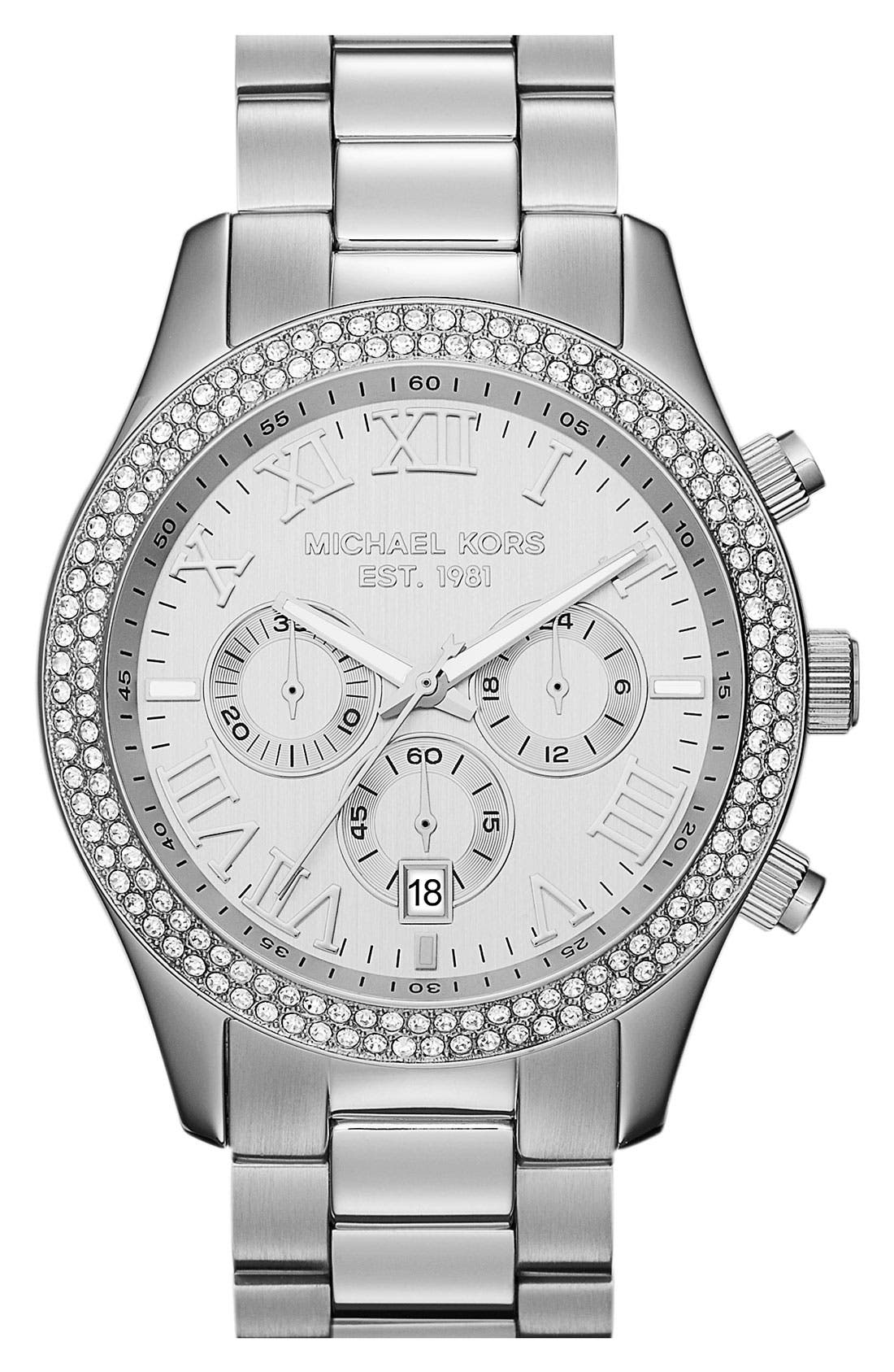 Alternate Image 1 Selected - Michael Kors 'Layton' Chronograph Bracelet Watch, 44mm
