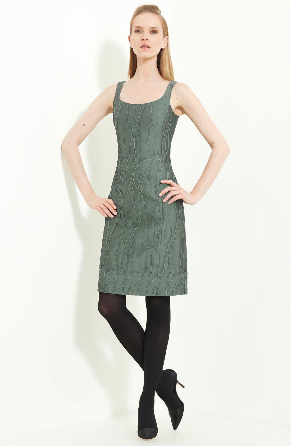 Main Image - Armani Collezioni Jacquard Sheath Dress