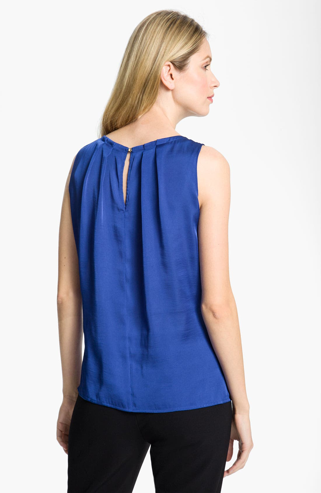 Alternate Image 2  - Chaus Pleat Neck Blouse