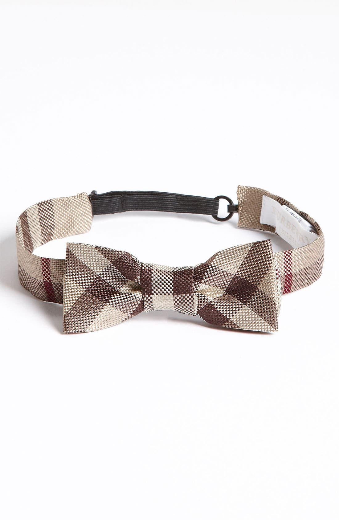 Main Image - Burberry Silk Bow Tie (Big Boys)