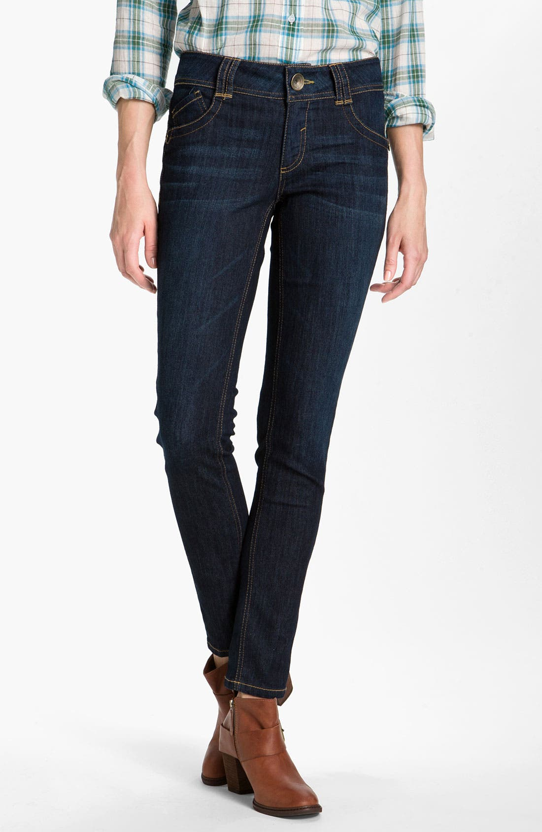 Main Image - Wit & Wisdom Denim Leggings (Indigo Wash) (Nordstrom Exclusive)