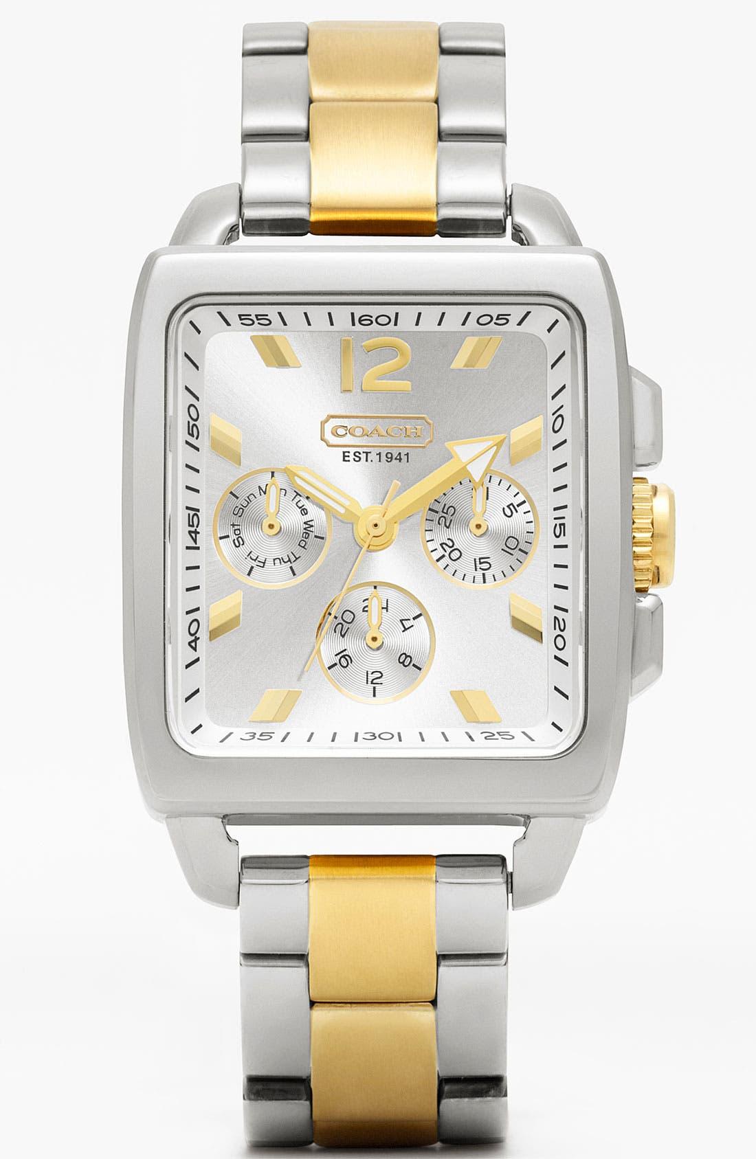 Main Image - COACH 'Boyfriend' Square Bracelet Watch