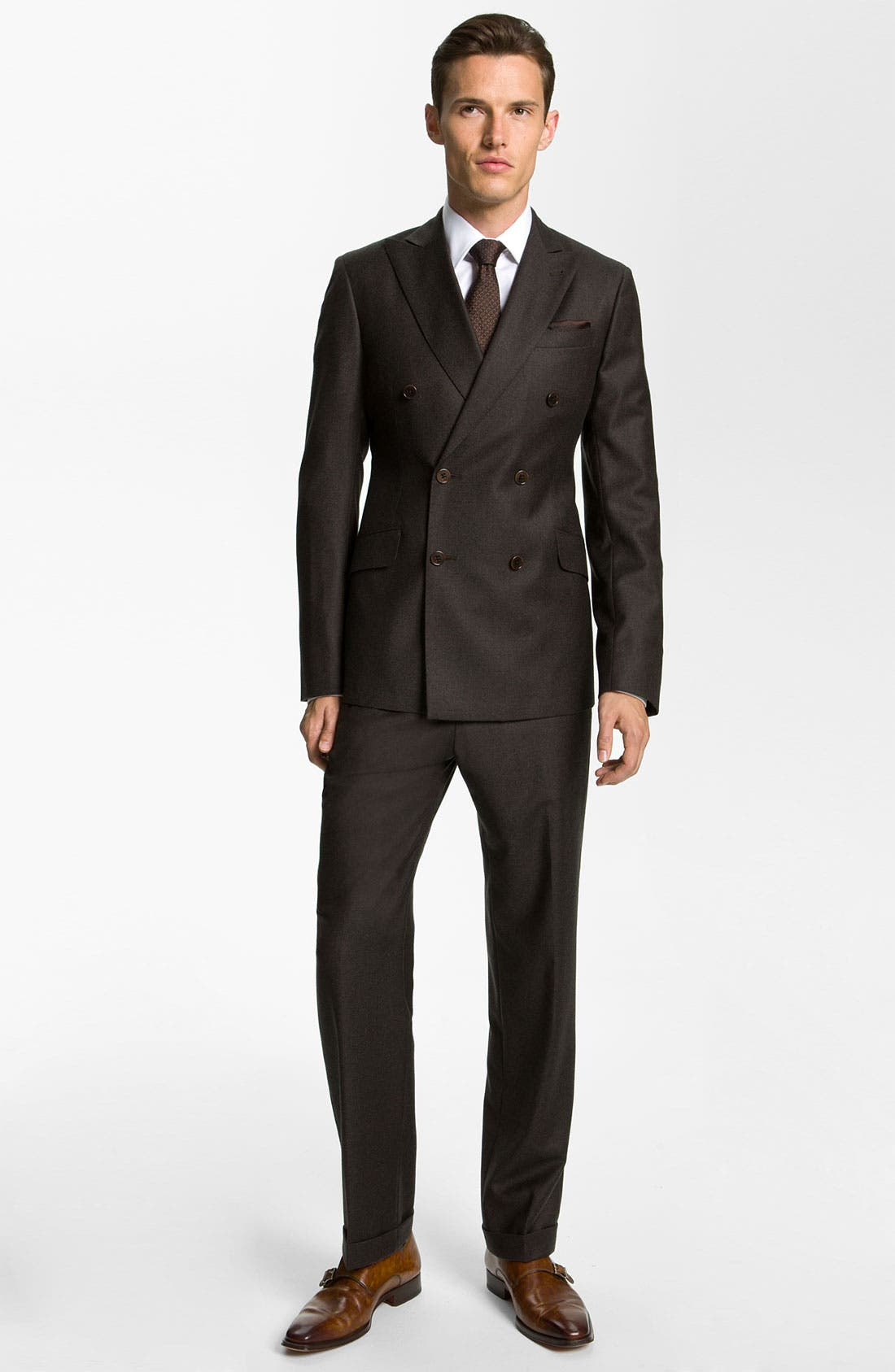 Alternate Image 2  - Armani Collezioni 'Sartorial' Double Breasted Trim Fit Suit