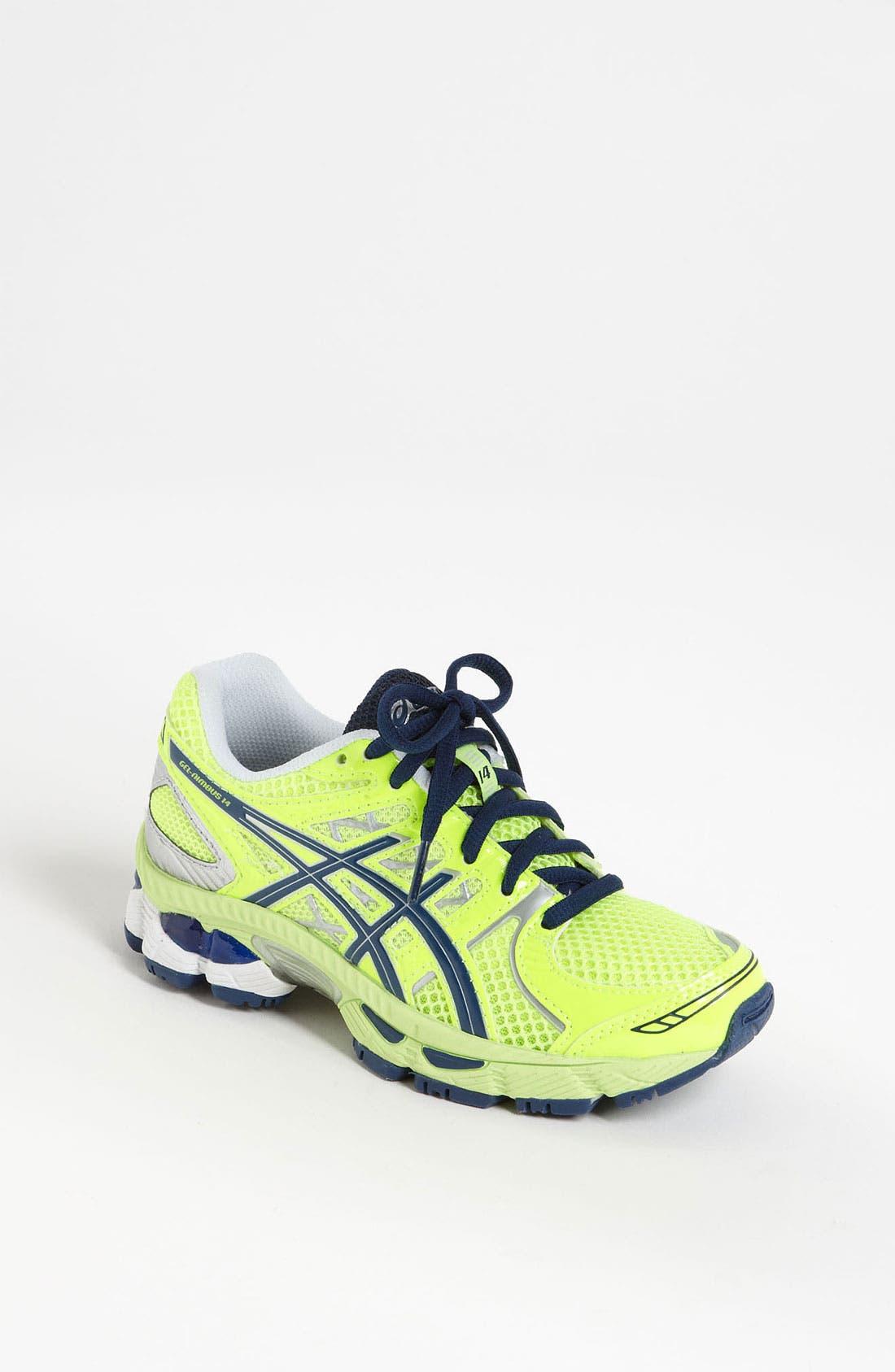 Alternate Image 1 Selected - ASICS® 'GEL®-Nimbus 14' Running Shoe (Little Kid & Big Kid)