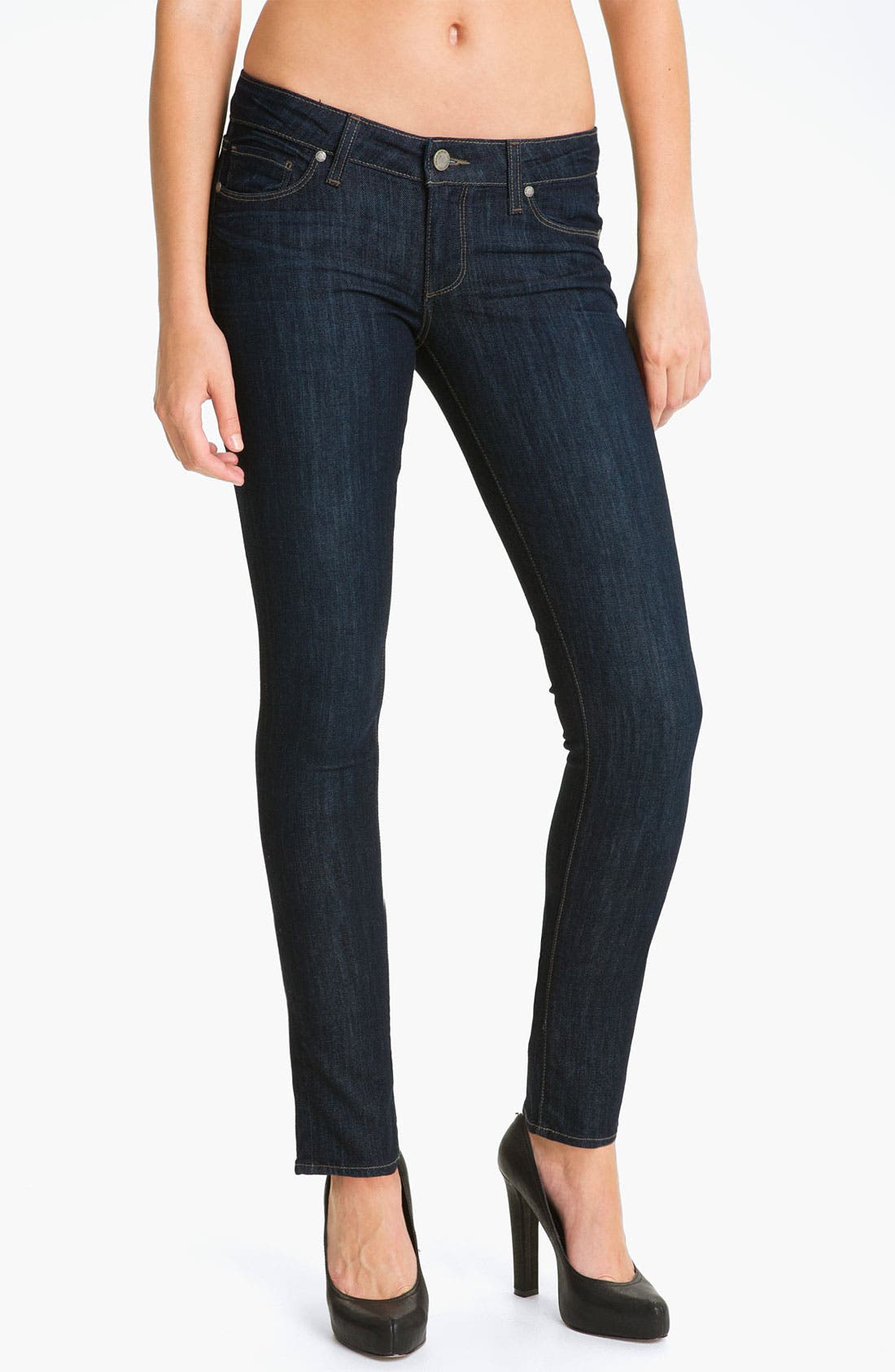 Main Image - Paige Denim 'Skyline' Ankle Peg Skinny Stretch Jeans (Dream)