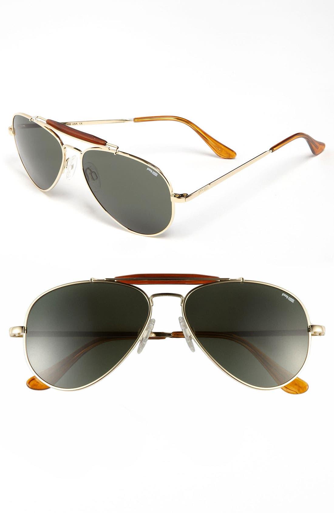 'Sportsman' 57mm Sunglasses,                         Main,                         color, Gold/ Agx