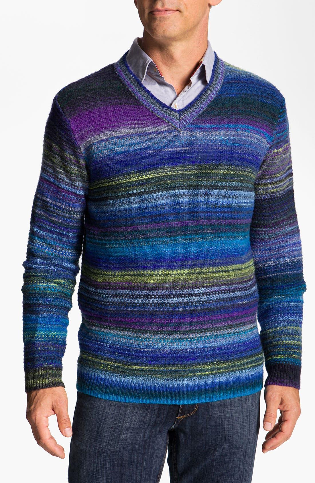 Alternate Image 1 Selected - Robert Graham 'Huntingdon' V-Neck Wool Blend Sweater
