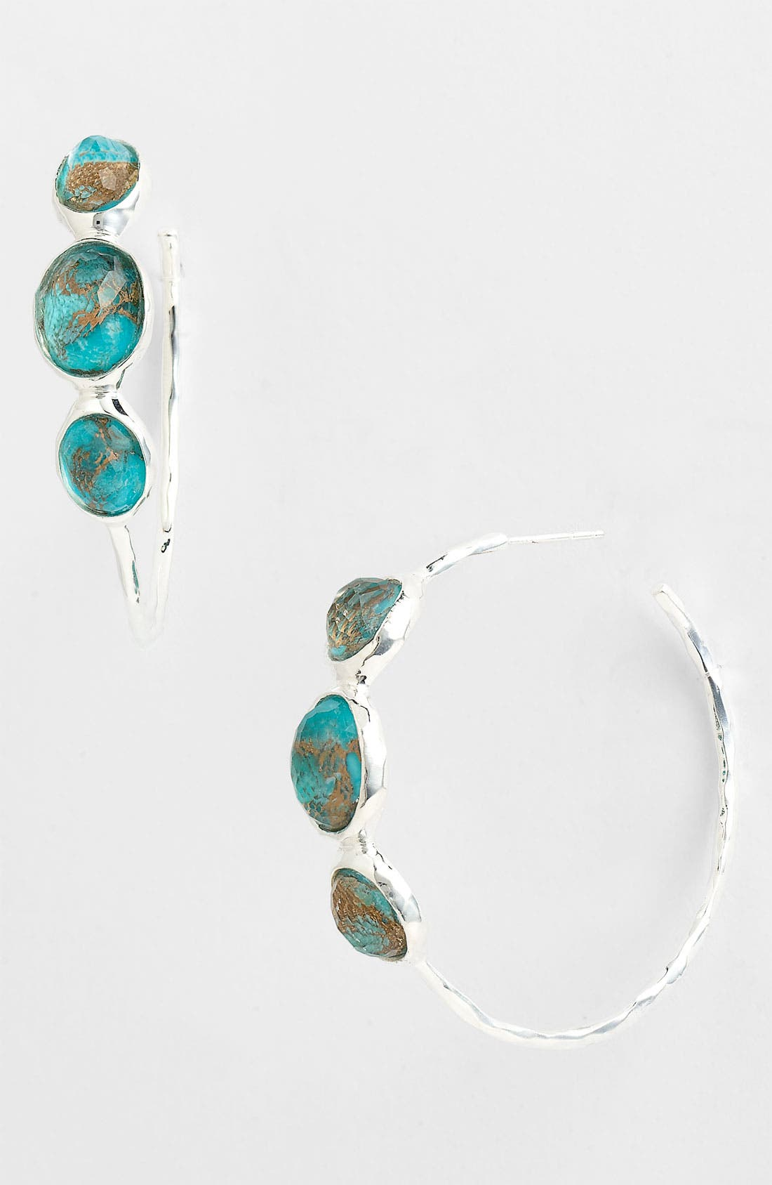 Alternate Image 1 Selected - Ippolita 'Rock Candy - Number 3' 3 Stone Hoop Earrings