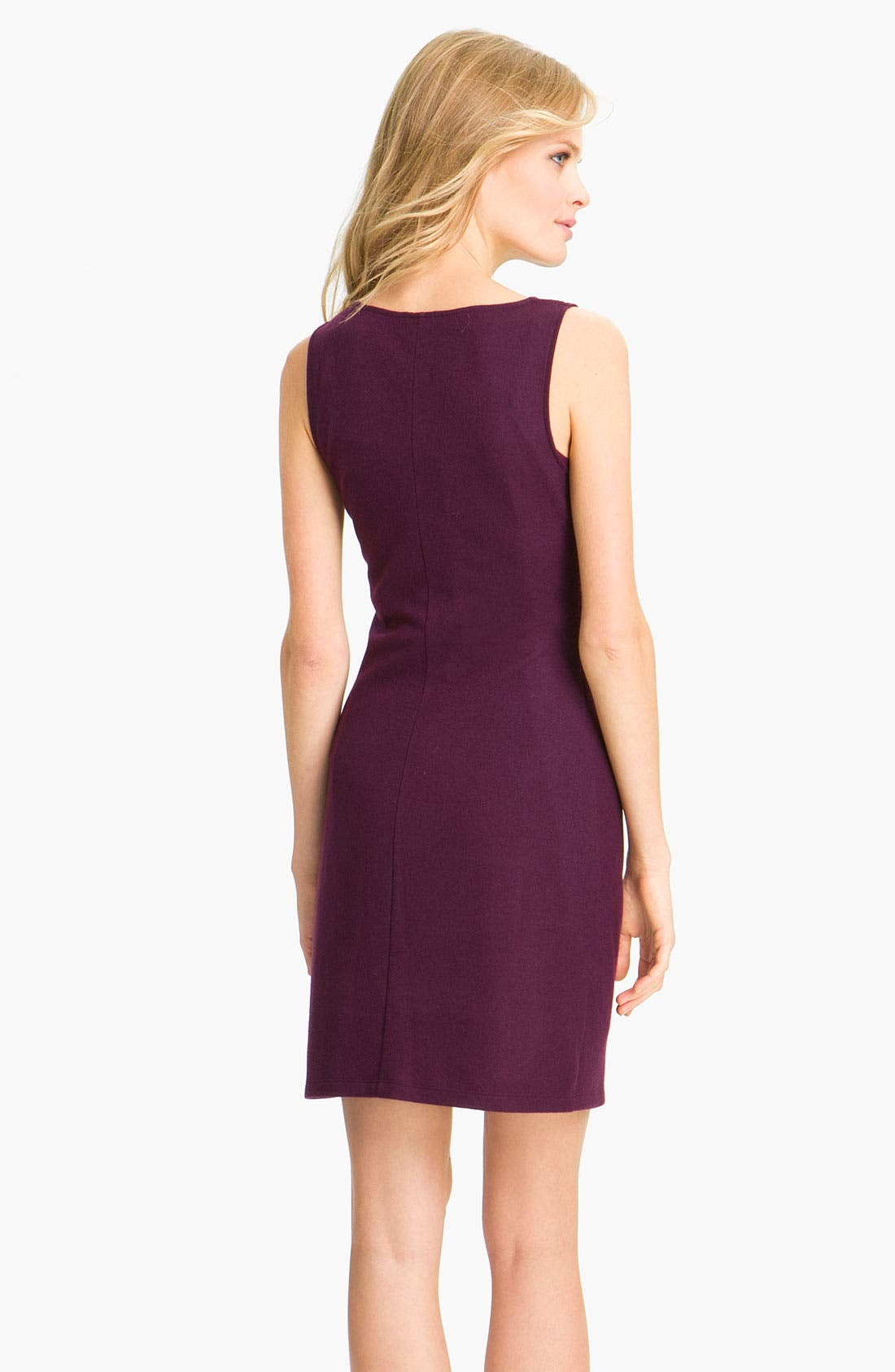 'Meily K. - Victorious' Wool Shift Dress,                             Alternate thumbnail 2, color,                             Syrah