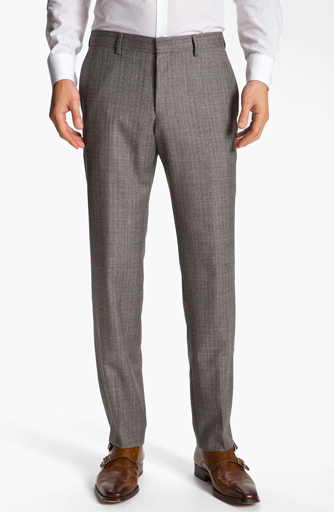 Alternate Image 4  - BOSS Black 'Hold Genius' Trim Fit Plaid Suit