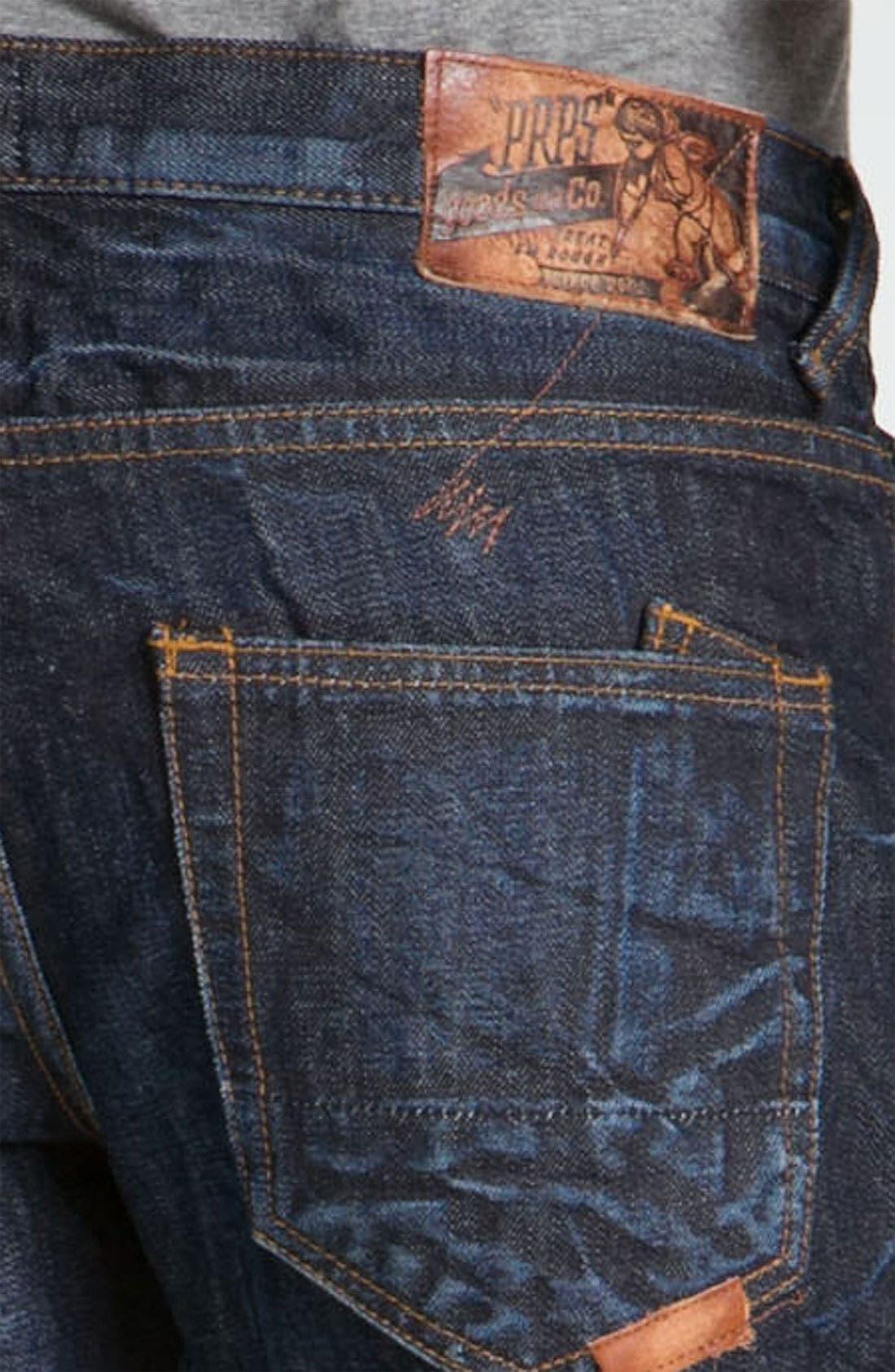 Alternate Image 4  - PRPS 'Snowy Crevasses Barracuda' Straight Leg Jeans (1 Year Wash)