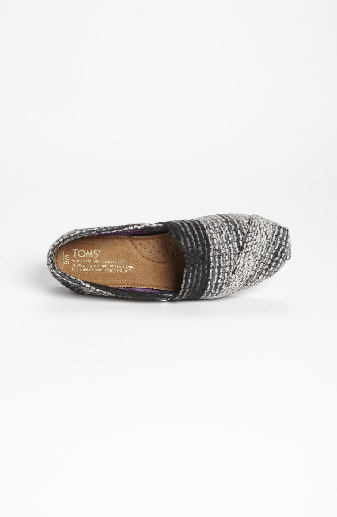 Alternate Image 3  - TOMS 'Classic - Stripe' Woolen Slip-On (Women)