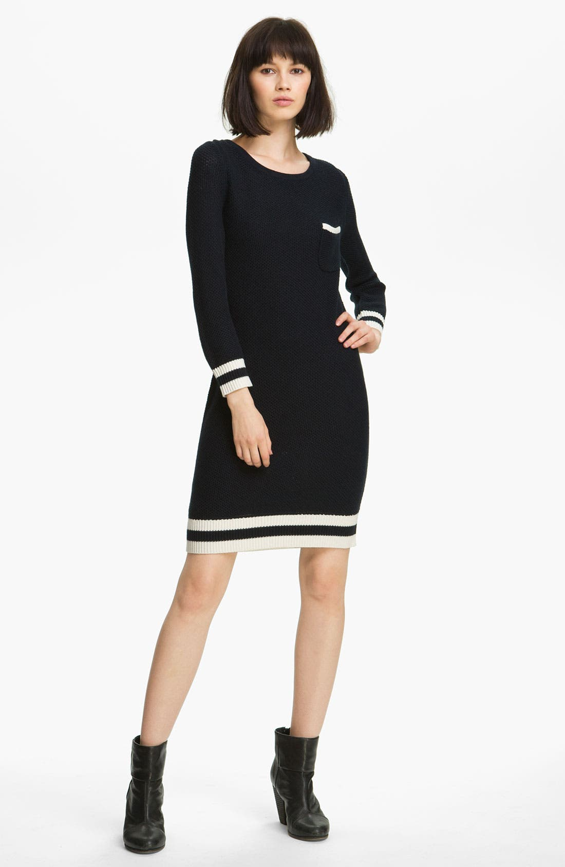 Main Image - rag & bone/KNIT 'Allison' Contrast Trim Dress