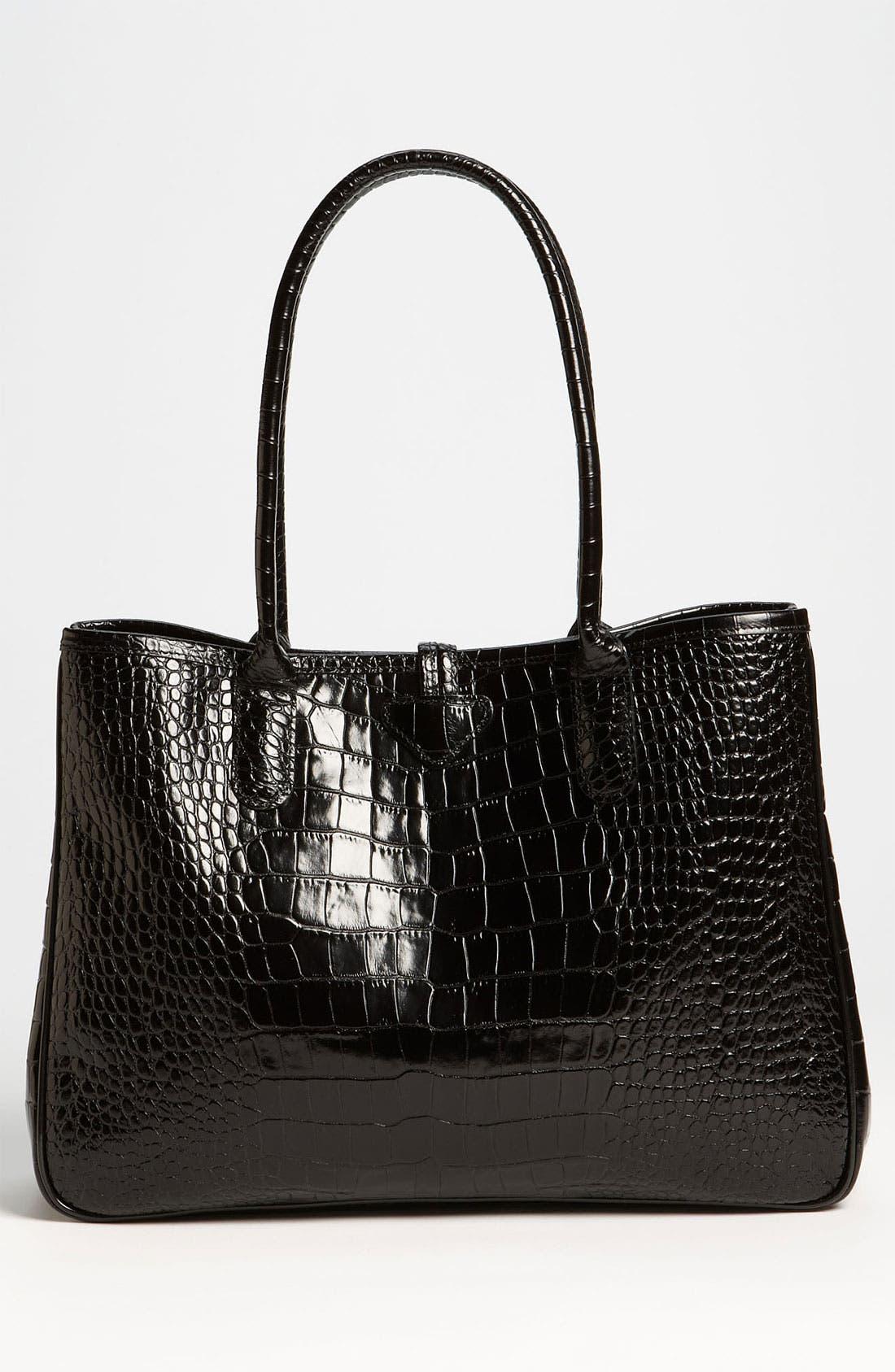 Alternate Image 3  - Longchamp 'Roseau Croco' Shoulder Tote