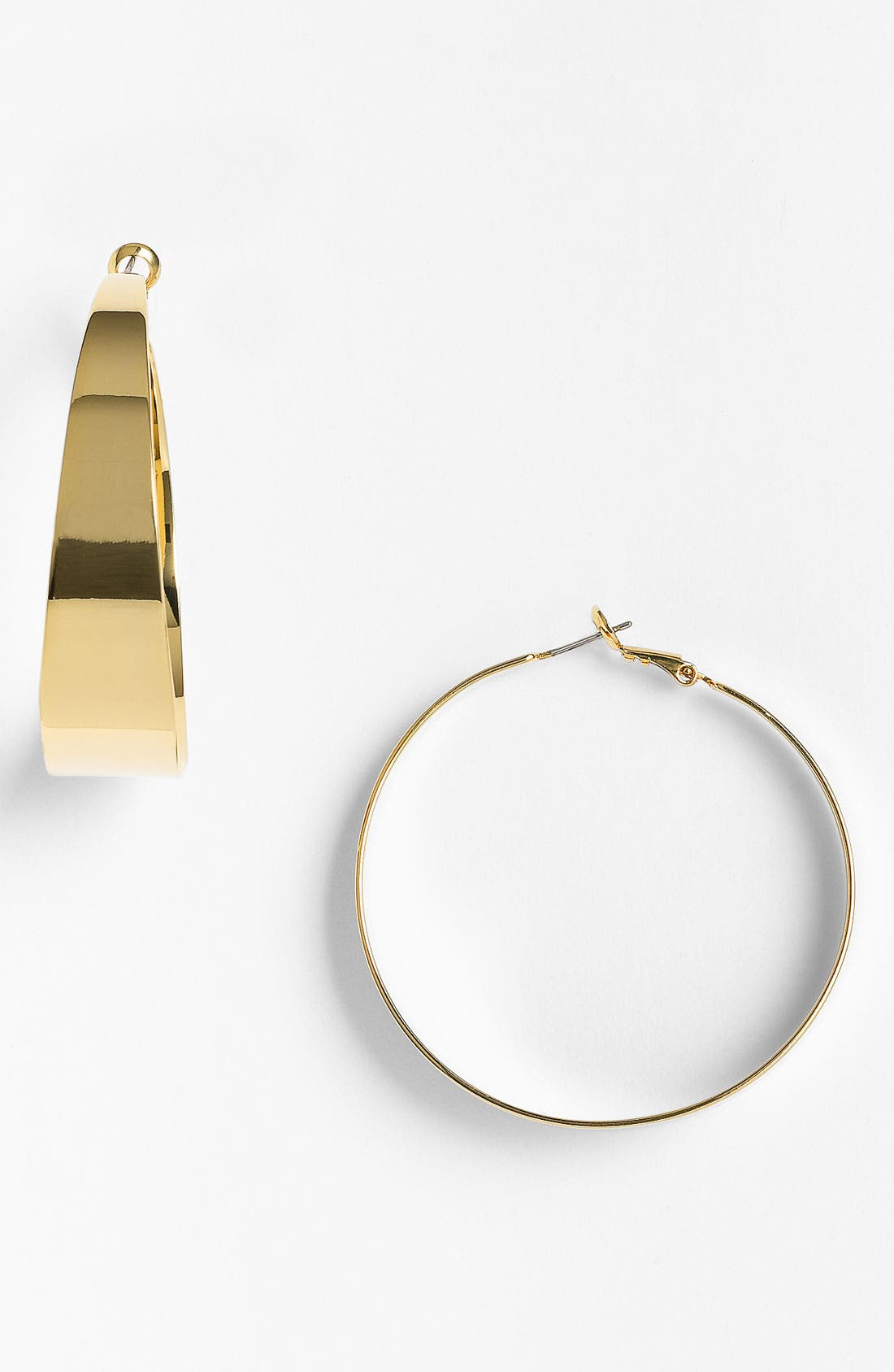 Main Image - Vince Camuto 'Basics' Tapered Hoop Earrings