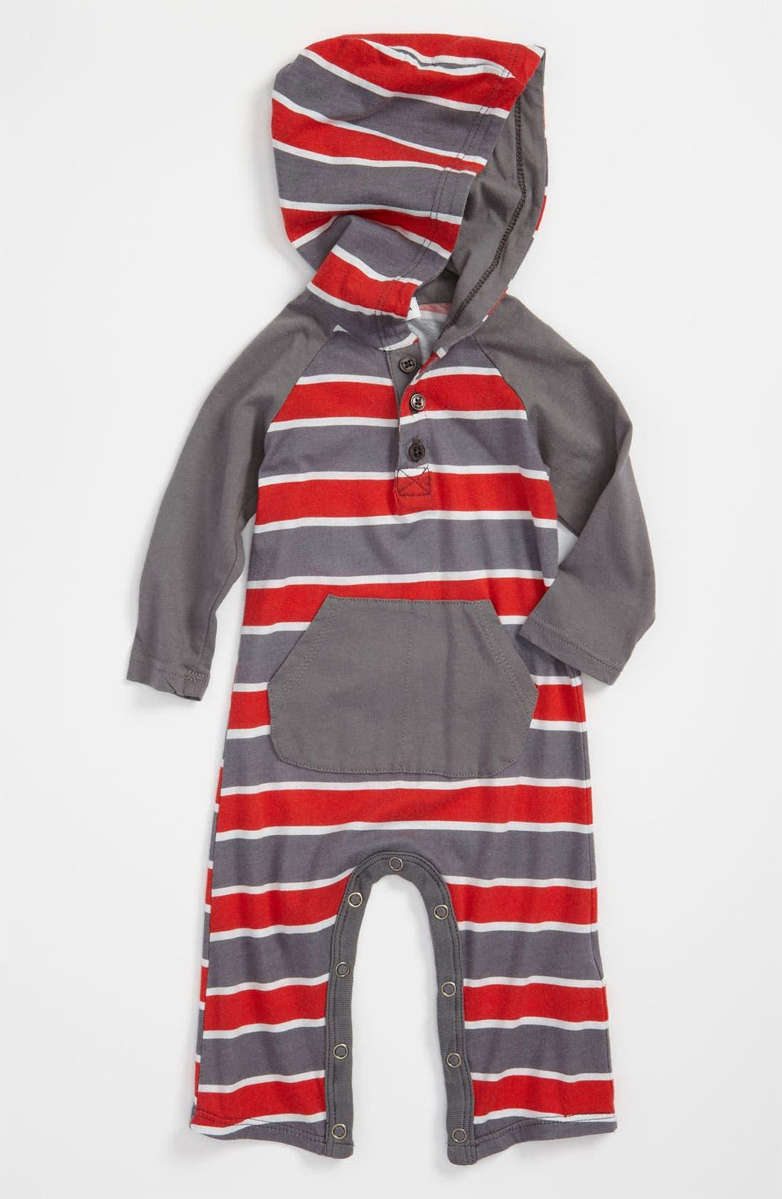 Alternate Image 1 Selected - Splendid 'Chesapeake Rugby' Hooded Romper (Infant)