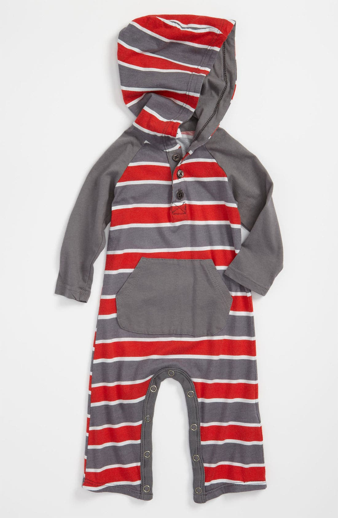 Main Image - Splendid 'Chesapeake Rugby' Hooded Romper (Infant)