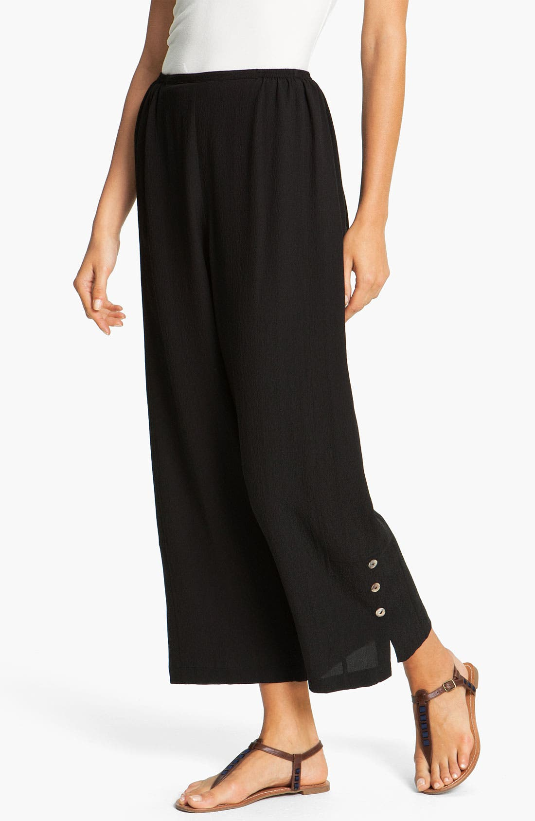 Main Image - Citron Silk Crop Pants (Petite)